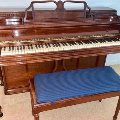 LOT 1  STUDIO CONSOLE GULBRANSON PIANO & BENCH