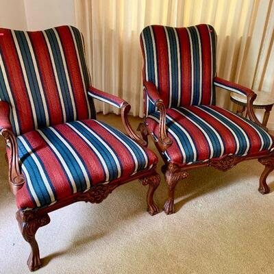 LOT 5 PAIR ARM CHAIRS