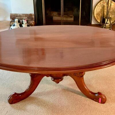 LOT 6 OVAL WOODEN COFFEE TABLE
