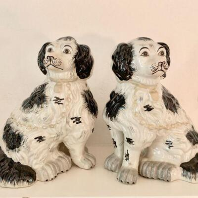 LOT 8 PAIR STAFFORDSHIRE DOGS
