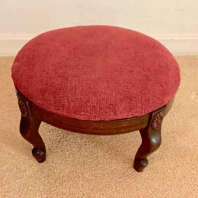 LOT 15  GROUP OF 3 ANTIQUE FOOTSTOOLS NEEDLEPOINT