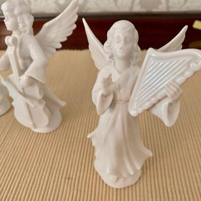 LOT 25 VINTAGE DRESDEN 4 ANGEL FIGURINES