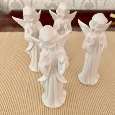 LOT 27 DRESDEN ANGEL CHOIR 4 FIGURINES