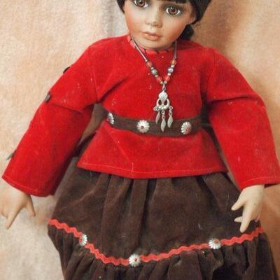 Porcelain Indian  doll