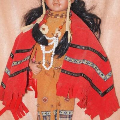 Porcelain Indian Collectable  doll