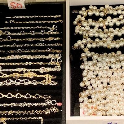 Markdown: $5 Each Charm Link Bracelets 24 Gold Plated or Silver Plated Pearl Bracelets without Charmed Attchments
