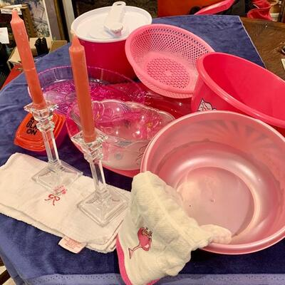 Pretty in Pink Set: NOW ONLY $45  Everything Shown: Includes Glass Candle Holders