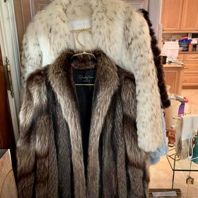 Vintage: Raccoon or Badger  Mid Length Coats $400 Each Fits approximately size 10 - 12