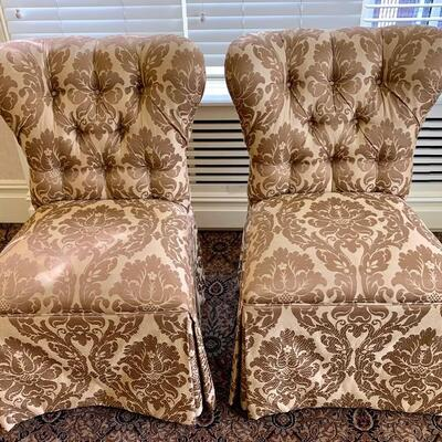 Set of 2 Side/ Accent Chairs- Custom Made FULLY Upholstered