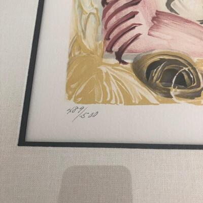 LOT 17 S/N LITHOGRAPH SIGNED WHITNEY MUSEUM PICASSO