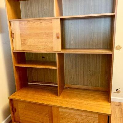 LOT 22  DANISH MODERN WALL UNIT STAMPED MADE IN DENMARK