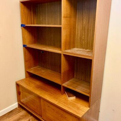 LOT 23  DANISH MODERN WALL UNIT STAMPED MADE IN DENMARK