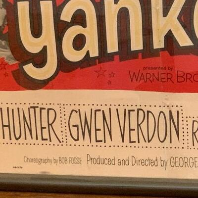 LOT 24 Dam Yankees Movie Poster Signed by Gwen Verdon