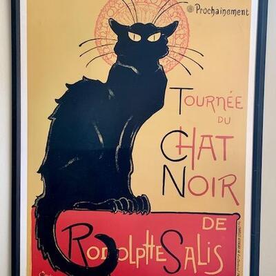 LOT 26 Framed French Black Cat Poster