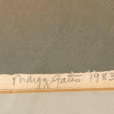 LOT 35 Margy Gates 1983 Print