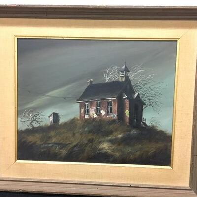 c.1960 RONALD REILLO Original Oil Painting 20x16