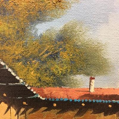 """Guido Borelli Original Oil on Canvas 12"""" x 16"""""""