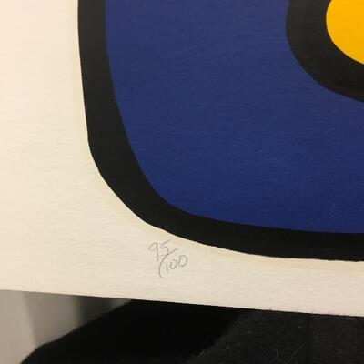 Original MOSS Hand Signed Limited Edition Lithograph 29x36