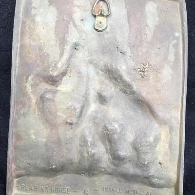 REARING HORSE Metal Wall Plaque High Relief Artwork by RODALE