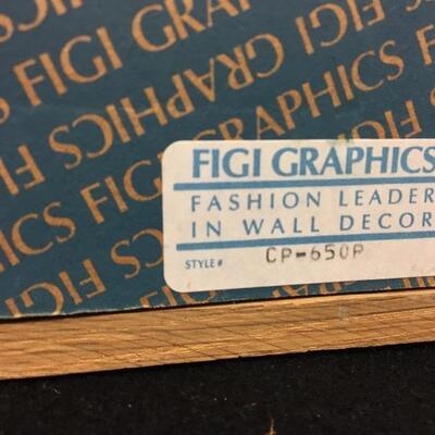 Original c.1988 Figi Graphics Art Signed By Wess Cast Paper 3D Framed