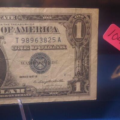 1957 B Silver Certificate 104