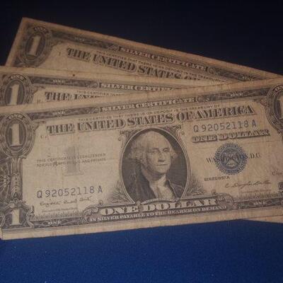 3 1957 Silver Certificates 102