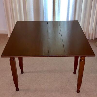 LOT 30   ANTIQUE WALNUT GAME TABLE