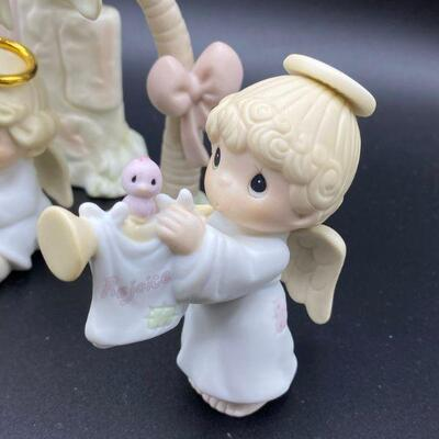 Reserved For Jesus Precious Moments Angels Nativity Figurines