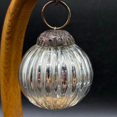 Pair of Small Mercury Glass Ornaments