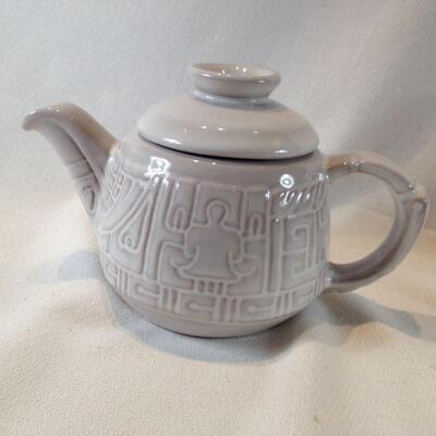 Frankoma Tea Pot with Relief Decoration