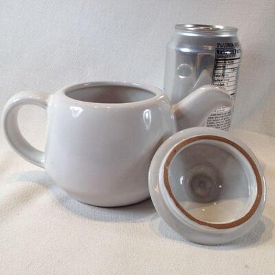 Frankoma Simple White Tea Pot