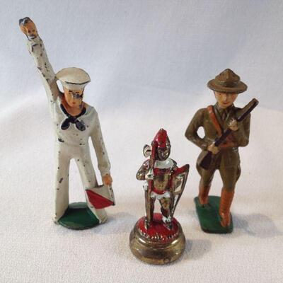 Metal Figurines Trio