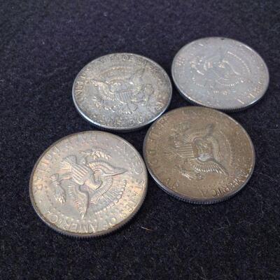 90% Silver Kennedy Half Dollars + One 40%
