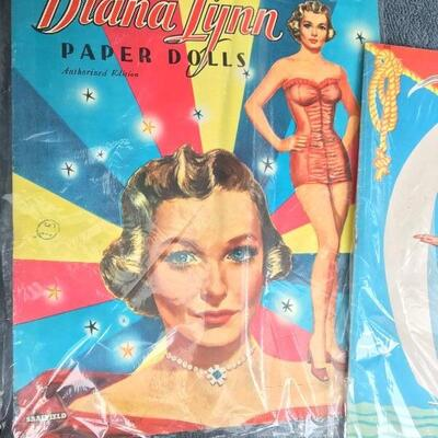 Collection of 6 Vintage Paper Doll Books with Diana Lynn and Betty Field