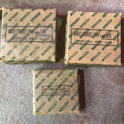 48: Vintage Bay State Solid Carbon Square Die Lot