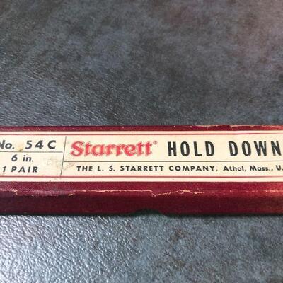 123: Vintage No. 54C Starrett Hold Downs