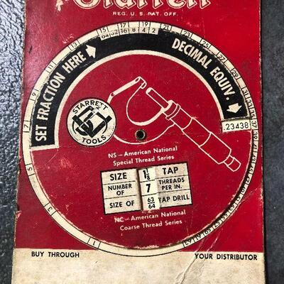 129: Vintage Starrett Metal Rulers