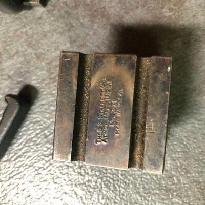 130: Vintage Starret V-Blocks with Clamps
