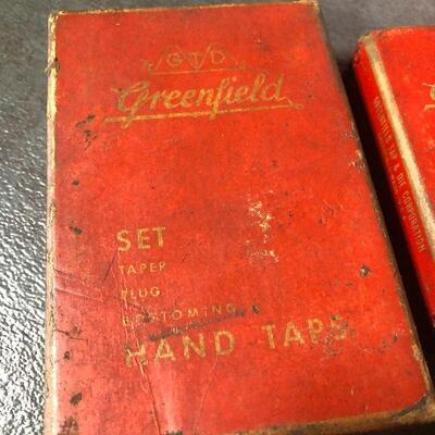 135: Vintage Greenfield Cut Thread Hand Taps Set