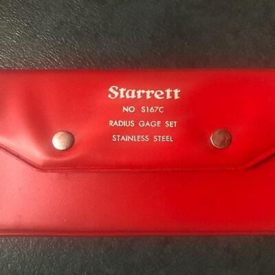 136: Vintage Starrett Radius Gage Set