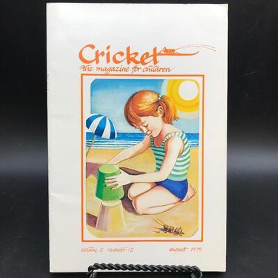 """Cricket Magazine"" August 1975 Children's Periodical"