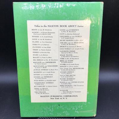 """""""A Maxton Book About: Seashells"""" Children's Children's 1954"""