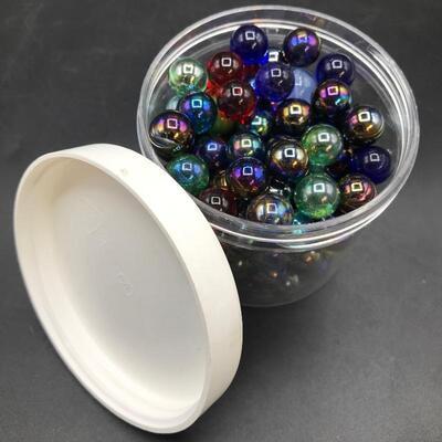 19oz. Jar of Black Luster Marbles
