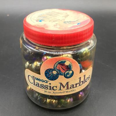 1 lb. Jar of Assorted Marbles