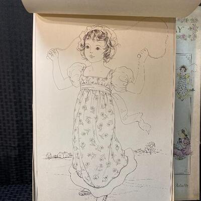 Kate Greenaway Large Coloring Book 6 Delightful Character Pages