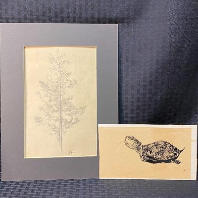 Two Original Art Pieces by Jeff