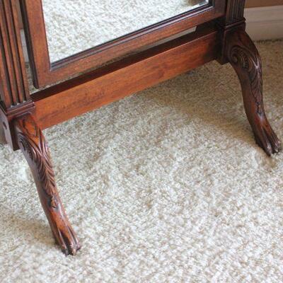 Lot 1 Standing Mahogany Beveled Mirror