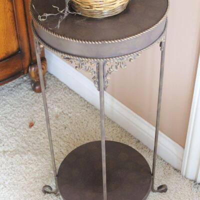 Lot 3 Iron Plant Stand w/ Faux Plant