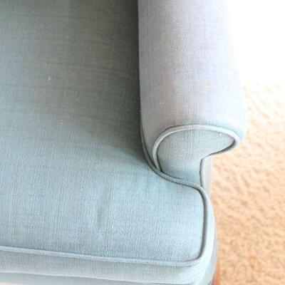 Lot 4 Blue Wingback Chair #1