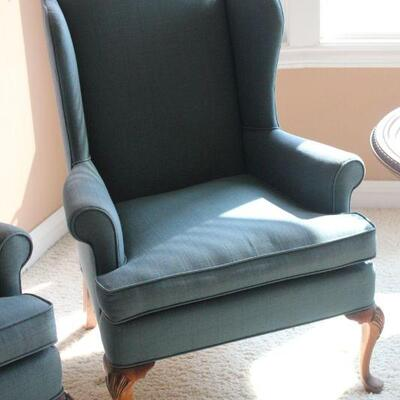 Lot 5 Blue Wingback Chair #2